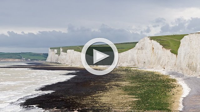 The Seven Sisters by the English Channel, UAV filming